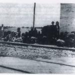 Sfollati in attesa di un treno