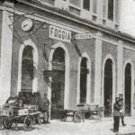 Facciata interna della stazione prima dei bombardamenti