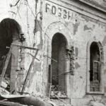 Facciata interna della stazione dopo dei bombardamenti