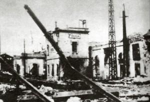 Stazione dopo i bombardamenti