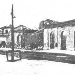 Uffici della stazione dopo i bombardamenti