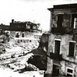 Macerie dopo i bombardamenti