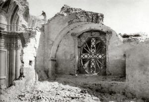 Chiesa della Maddalena in via S.Altamura dopo i bombardamenti