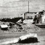 Quel che resta del cavalcavia per Manfredonia fatto saltare in aria dai tedeschi in ritirata