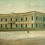 Attuale palazzo dell'Ateneo in una stampa dell'800