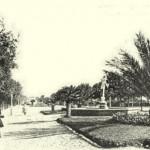 Interno della villa comunale - Fontana del Mercurio