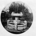 La fontana delle rane nella villa