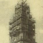 Lavori restauro campanile della Cattedrale negli anni 30 (collezione privata Marco Scarpiello)