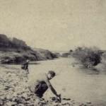 Pescatori lungo il fiume Cervaro
