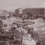 Piazza Cavour - sulo sfondo la Caserma dei Carabinieri