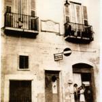 La casa che diede i natali al musicista, abbattuta dai bombardamenti del 43