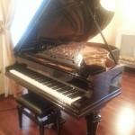 Pianoforte di Umberto Giordano restaurato e esposto nella sala Fedora del Teatro di Foggia intitolato al maestro
