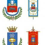 Gli stemmi di Apricena e Troia  (tavola esposta ad una mostra a lui dedicata)
