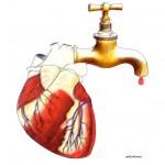 Il cuore  (tavola esposta ad una mostra a lui dedicata)
