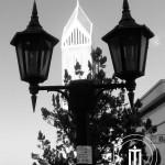 Il campanile visto da una posizione di lato al Santuario