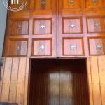 La porta d'ingresso del Santuario dell'Incoronata