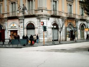 L'angolo dove era il bar Cavour in questa foto più recente