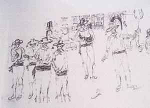 Terrazzani con la cravascia (disegno di Maria Pia de Stefano)