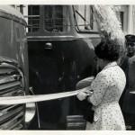 La moglie del sindaco taglia il nastro (foto Michele Gabriele)