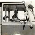 Uno dei primi autisti (foto Michele Gabriele)