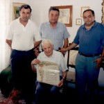 """26/06/1998 - Conferimento al M.llo d'Addedda della qualifica di """"Socio d'Onore"""" dell'Ass.ne Naz.le """"VV.FF. in Congedo"""" - Sez. di Foggia"""