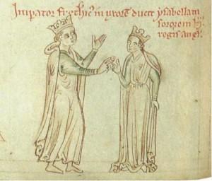 Federico con la moglie Isabella