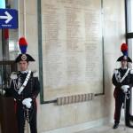 Targa presente nella stazione ferroviaria di Foggia