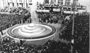 Inaugurazione Fontana della Stazione - 15 novembre 1953