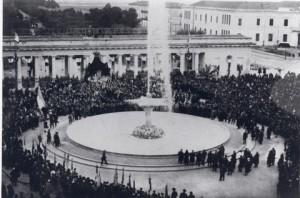 Inaugurazione della fontana alla presenza della Madonna dei Sette Veli - 21 marzo 1924