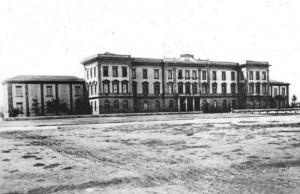 Una delle prime foto dell'edificio