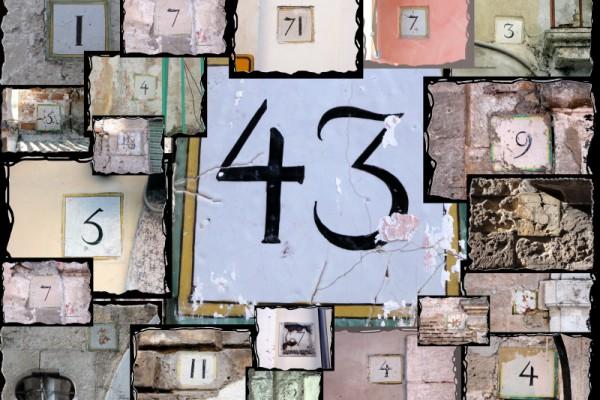 Uno dei numeri civici del 1820