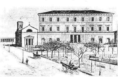 L'orfanotrofio in un disegno dell'epoca