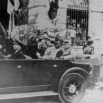 La visita del re a Foggia per l'inaugurazione del Monumento ai Caduti in piazza Lanza