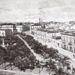 La piazza alla fine dell'ottocento