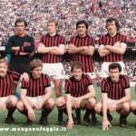 Serie A (1976/77) In piedi: Pirazzini Memo Bordon Colla Ulivieri Bruschini; accosciati: Del Neri Scala Nicoli Sali Bergamaschi