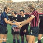 Serie A (1976/77)  - Scambio di gagliardetti con Mazzola