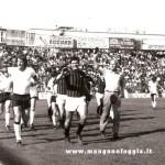 1977 - Festa per la permanenza in A (partita con le vecchie glorie guidate da Pugliese)