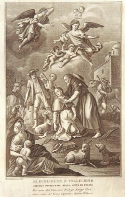 Immaginetta dei santi Guglielmo e Pellegrino