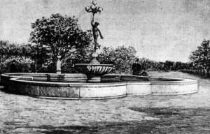 1900 - Fontana del Mercurio in villa distrutta dai bombardamenti