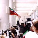 4 luglio 2005 - Riapertura della Villa Comunale dopo i restauri che videro la costruzione della nuova fontana - Inaugurazione da parte del sindaco, Orazio Ciliberti