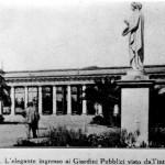 1920 - La Statua della dea Cerere all'interno della Villa distrutta dai bombardamenti