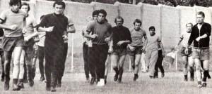 Maestrelli dirige una fase di allenamento nel Foggia
