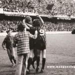 Esultanza per il gol di Pirazzini al Pescara - 1975/76