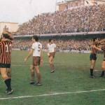 Momento di esultanza dopo il gol al Milan