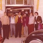 Alcuni calciatori al bar di fronte la tribuna dello Zaccheria 1977/78