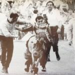 Festa per la promozione del Foggia in serie A nel 1970