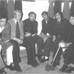 Calciatori nello spogliatoio 1970