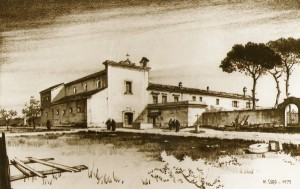 Ricostruzione dell'antico convento da parte dell'artista Soro (per concessione del sig.Michele Ciuffreda)
