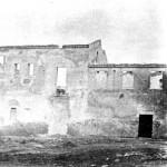 I resti della caserma dopo i bombardamenti del 1943