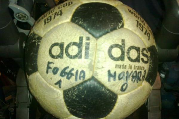Il pallone di quella gara custodito tuttora gelosamente da Maurizio Memo